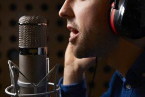 professionele vrouwelijke voice over
